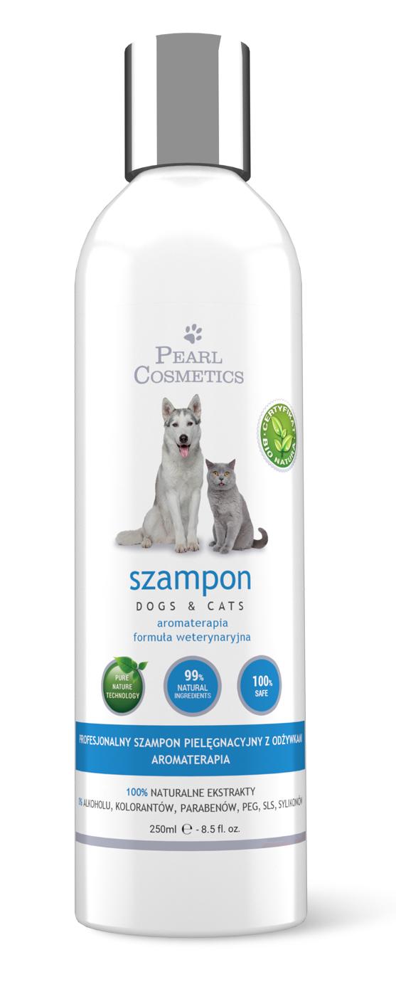 Szampon dla psów i kotów z naturalnymi odżywkami Pearl Cosmetics